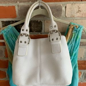 Tiganello TigBags Newport White Leather Tote
